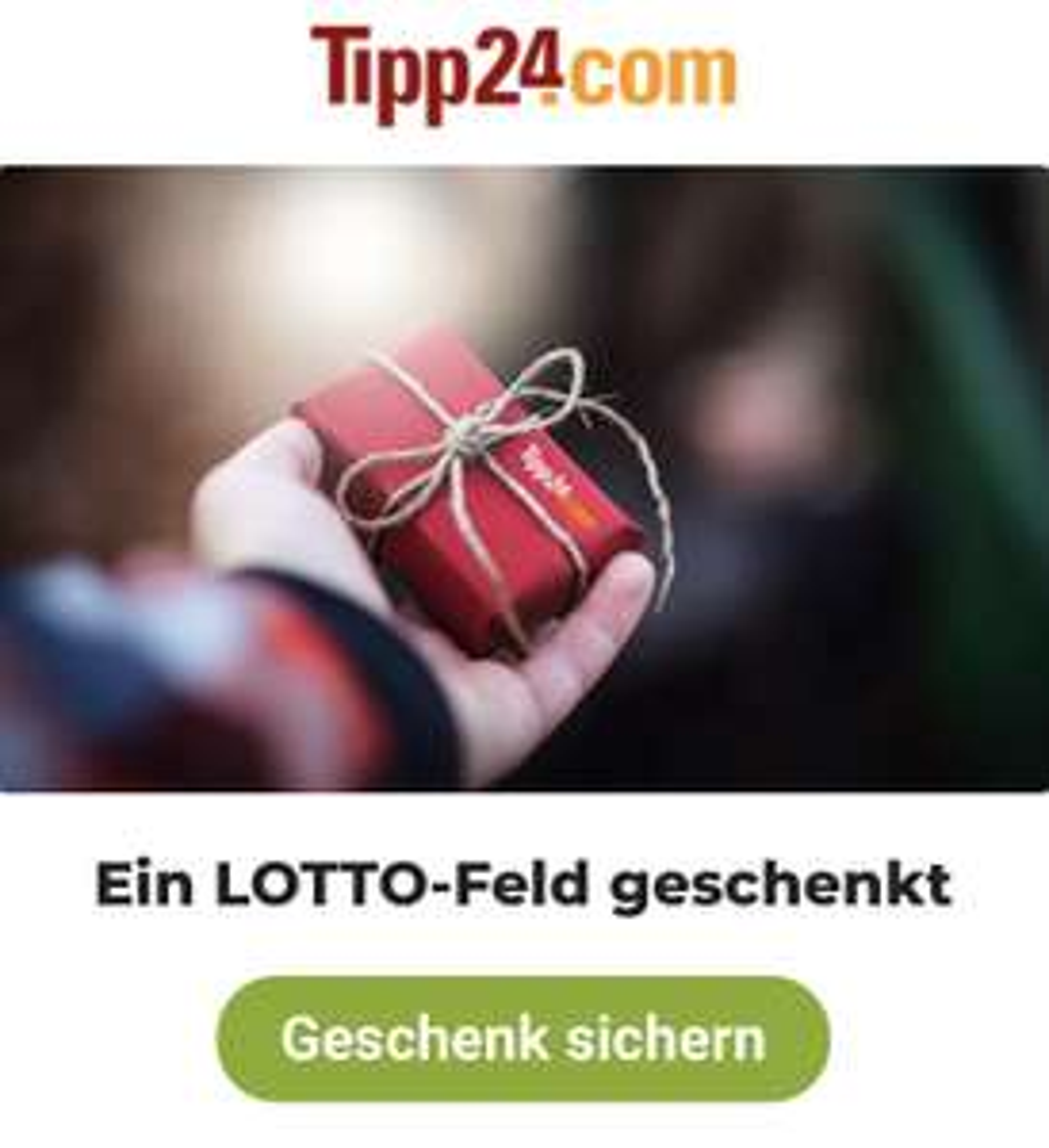 Ein LOTTO Feld geschenkt - Tipp24.com