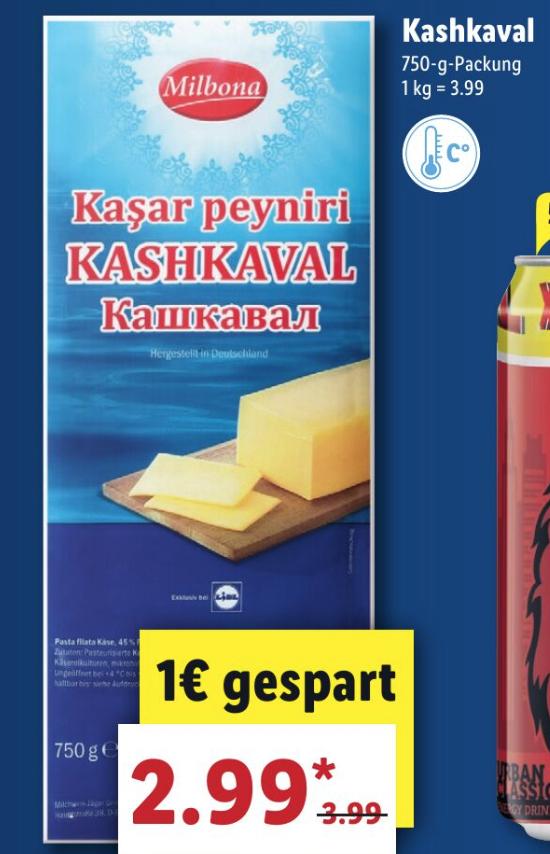 Kasar Peyniri - Käse 750g für 2,99€