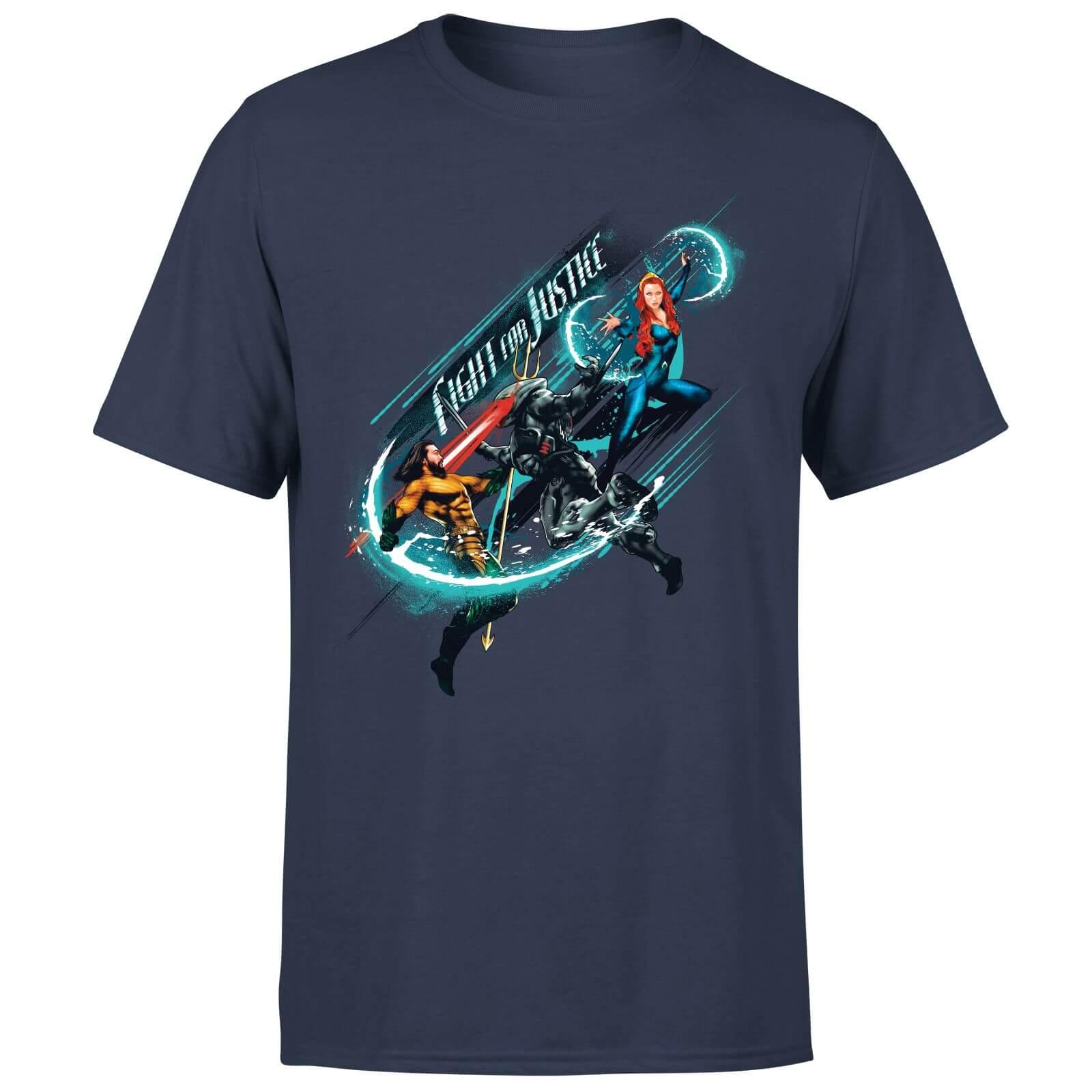 Aquaman: Fight for Justice T-Shirt (Herren, Damen, Kinder, S bis XXL) - alternativ Pulli für 18,99€ oder Hoodie für 20,99€