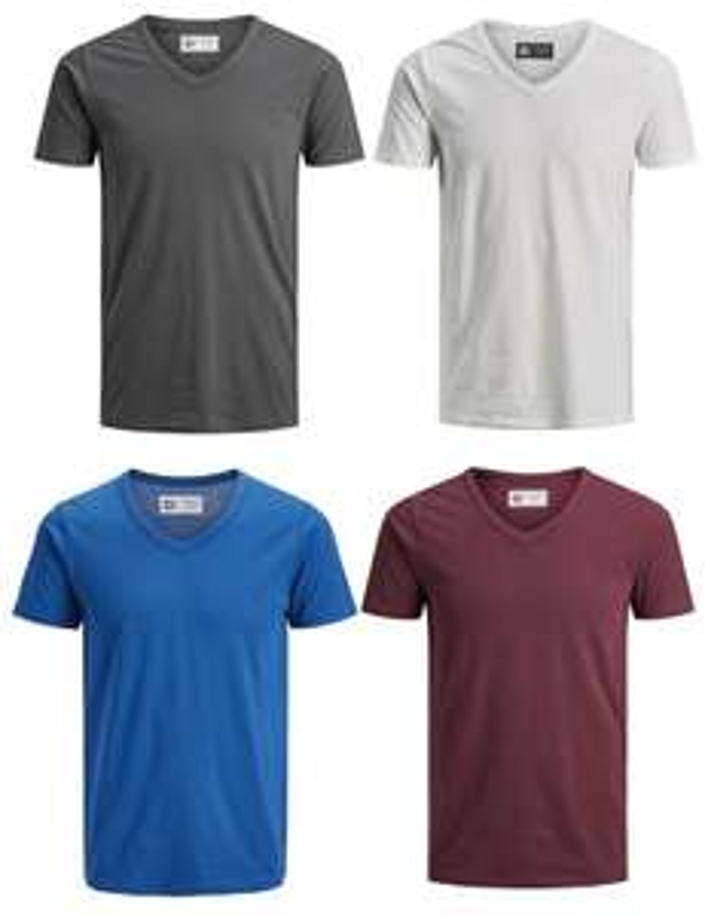 Jack & Jones T-Shirts im 4er Pack - Viele Farbkombinationen und Prints verfügbar