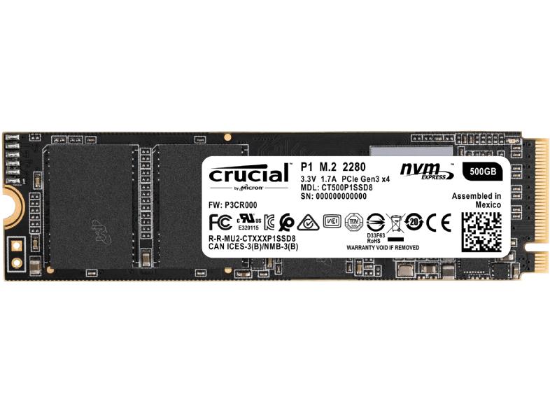 [Mediamarkt] Crucial P1 M.2 NVME SSD 500 GB M.2 (2280) SSD (Solid State Drive)für 66,-€