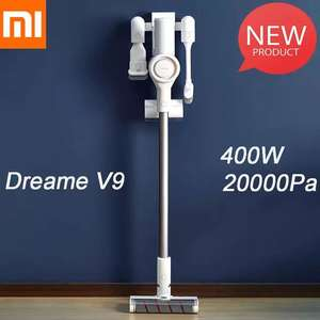 YouPin Dreame V9 Handstaubsauger (100.000 rpm, 20 kPa, Wandhalterung + Ladestation, 60 min Laufzeit, 2500 mAh)
