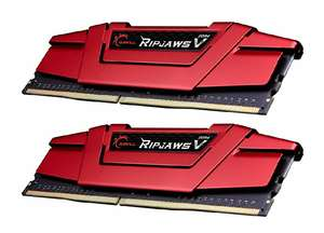 G.Skill Ripjaws V 32 GB (2x16) DDR4 3.200 MHz Kit, Arbeitsspeicher F4-3200C14D-32GVR, DIMM 288-PIN,