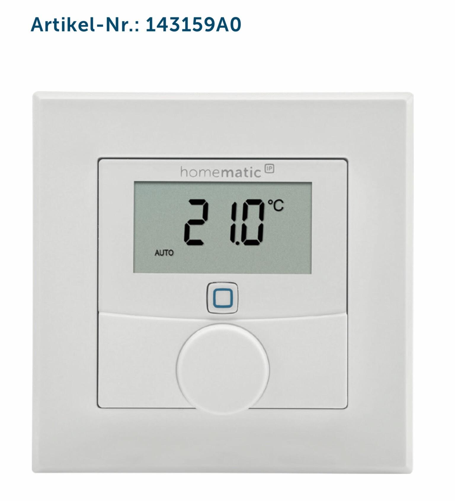 Homematic IP Wandthermostat mit Luftfeuchtigkeitssensor ( HmIP-WTH-2 )