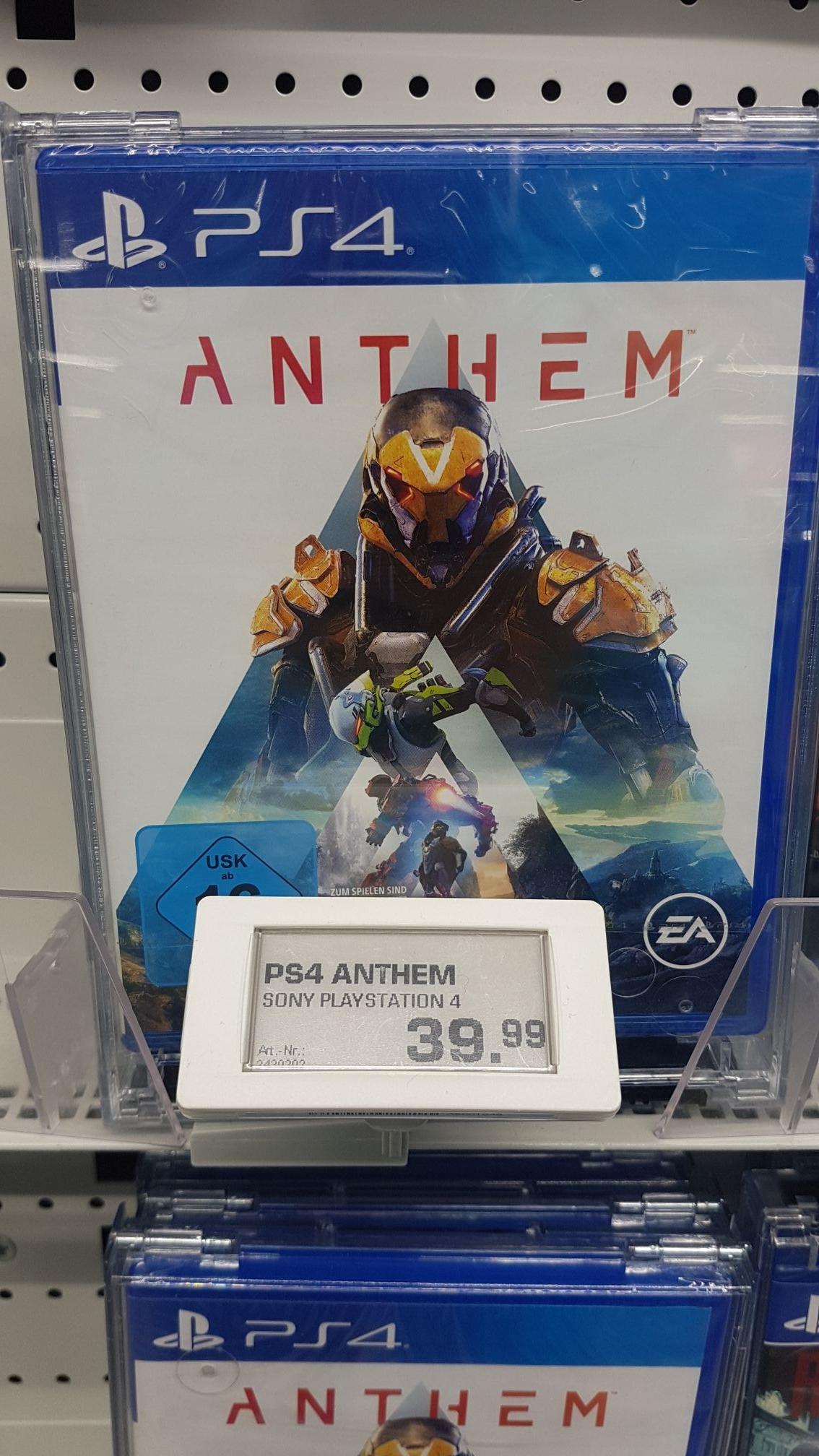 Anthem PS4/Xbox One (Lokales Angebot) Saturn Berlin Friedrichshain