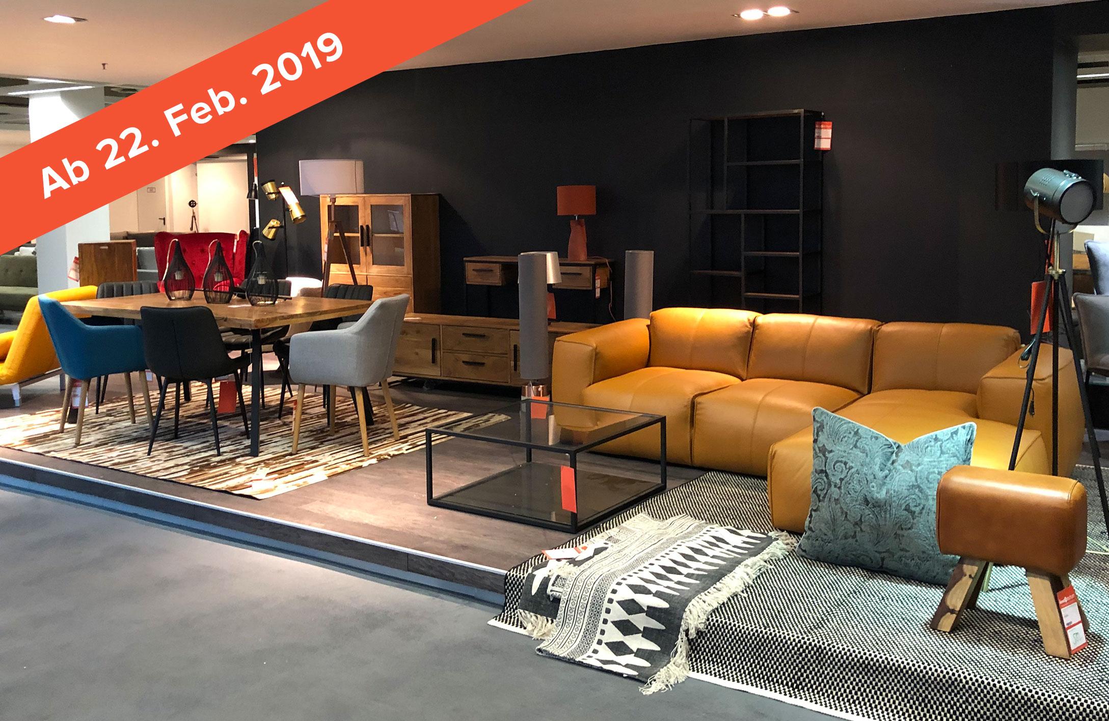 [LOKAL KÖLN *22.02.*] Neueröffnung  home24 Möbel-Outlet Köln  (8.000 m²)  - Einzelstücke bis zu 80% reduziert / 15% Rabatt im Showroom