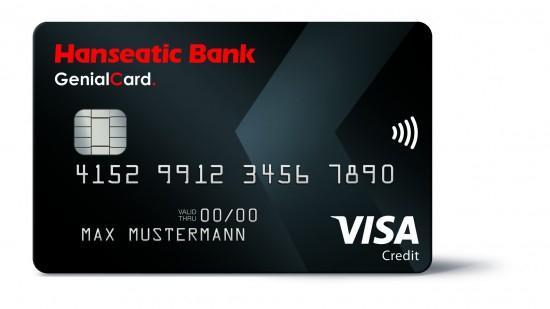 50 EUR Startguthaben für die kostenlose Hanseatic Bank GenialCard Kreditkarte