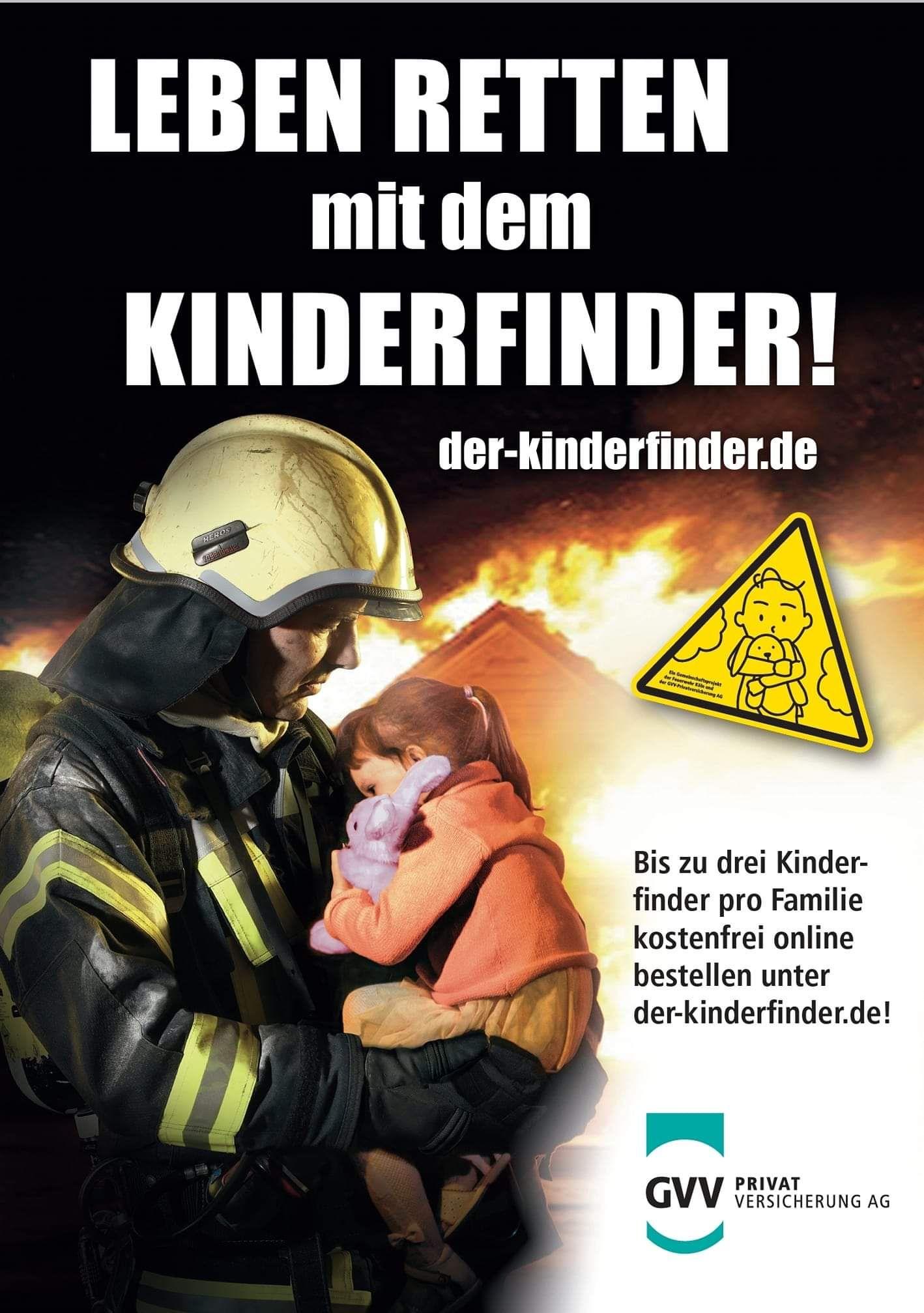 """Bis zu drei kostenlose Aufkleber """"KINDERFINDER"""""""