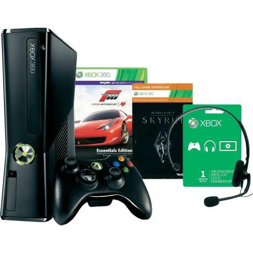 Xbox 360 250 GB + Forza Motorsport 4 + Skyrim Bundle + 10 Arcade Games für 199 EUR