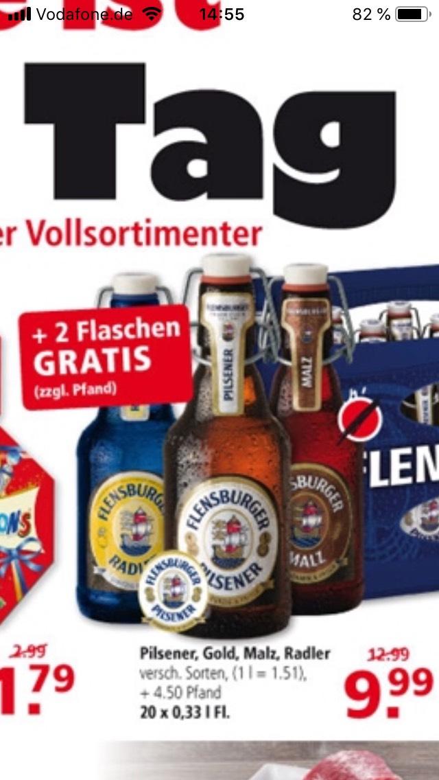 [Lokal Leer Emden] Kiste Flens + 2 Flaschen gratis Flensburger
