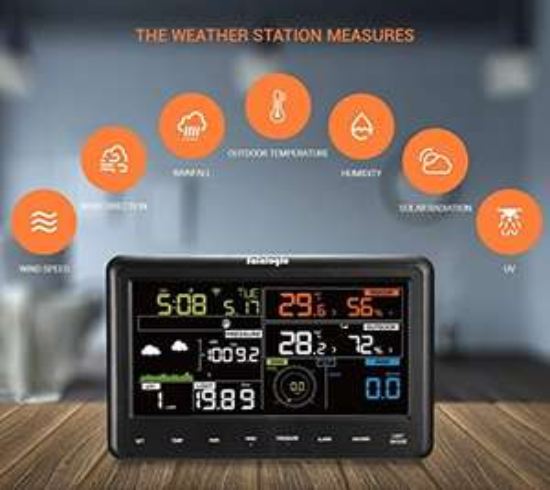Sainlogic Professionelle Funk Wetterstation - 10 in 1 Wifi Internet WLAN Wetterstation mit Außensensor