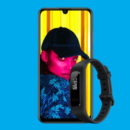 Blau Allnet L (3GB LTE, o2-Netz) für mtl. 10,99€ mit Huawei P Smart (2019, 64GB) + Huawei Band 3e + ohne AG *UPDATE*