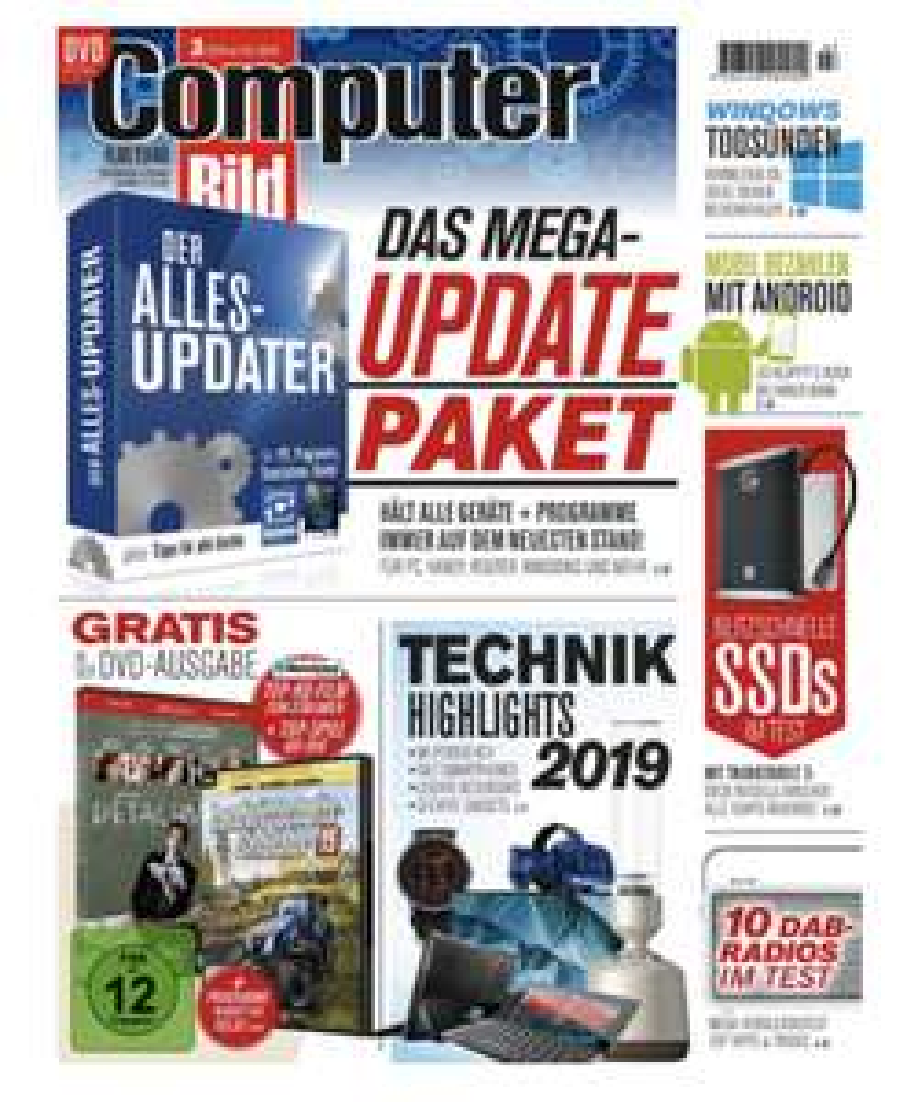 1 Jahr Computer Bild mit DVD für 126,50 € PLUS 130 € Amazon Gutschein!