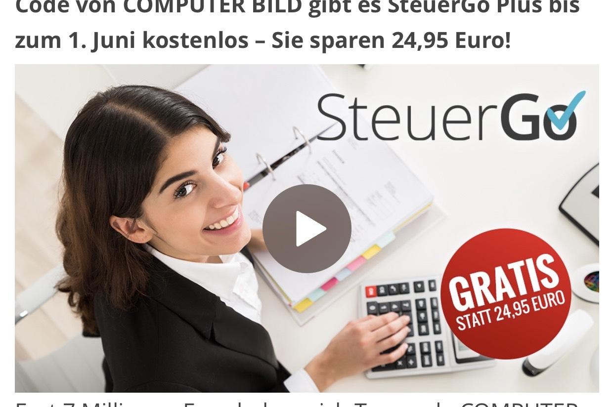 SteuerGo - kostenlos - jetzt am Kiosk (Computer Bild)