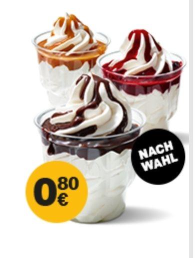 McSundae Schoko/Cherry/Karamell für 0,80€ [McDonald's App]