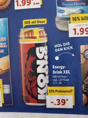 [Lidl] Kong Strong Energy Drink XXL