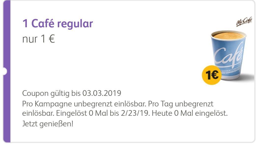 [McDonald's App] Café regular für 1€