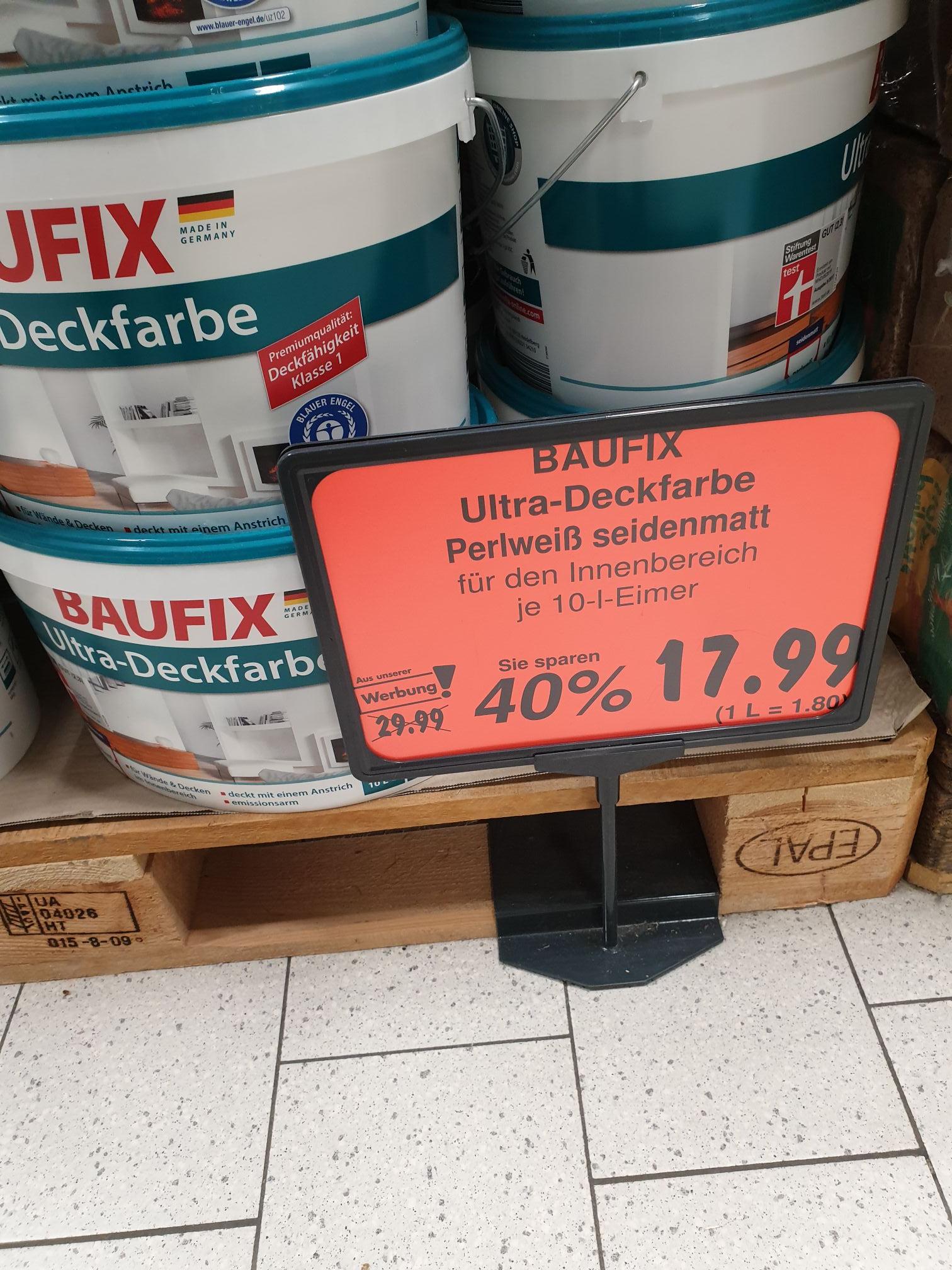 Kaufland Baufix Ultra-Deckfarbe 10l weiß