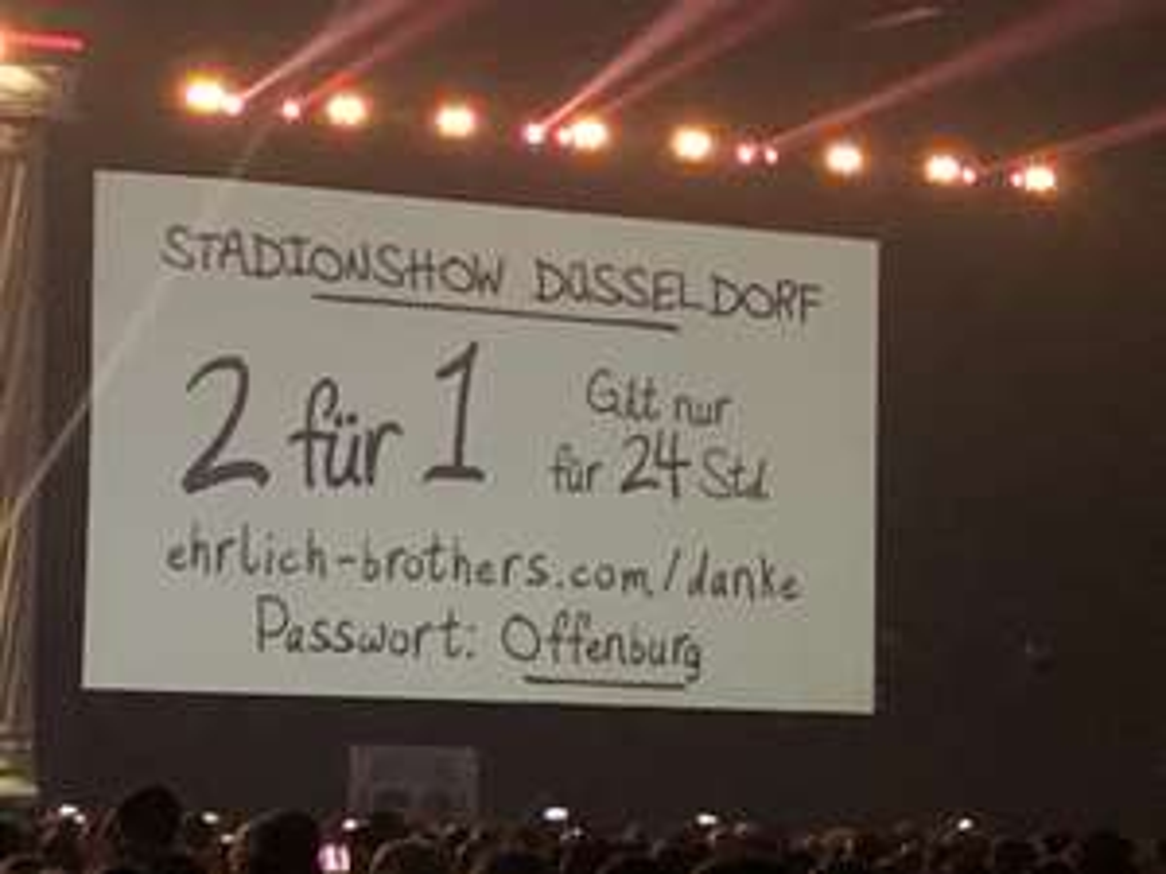 2 für 1 Ticket Stadionshow der Ehrlich Brothers in Düsseldorf am 15.06.2019