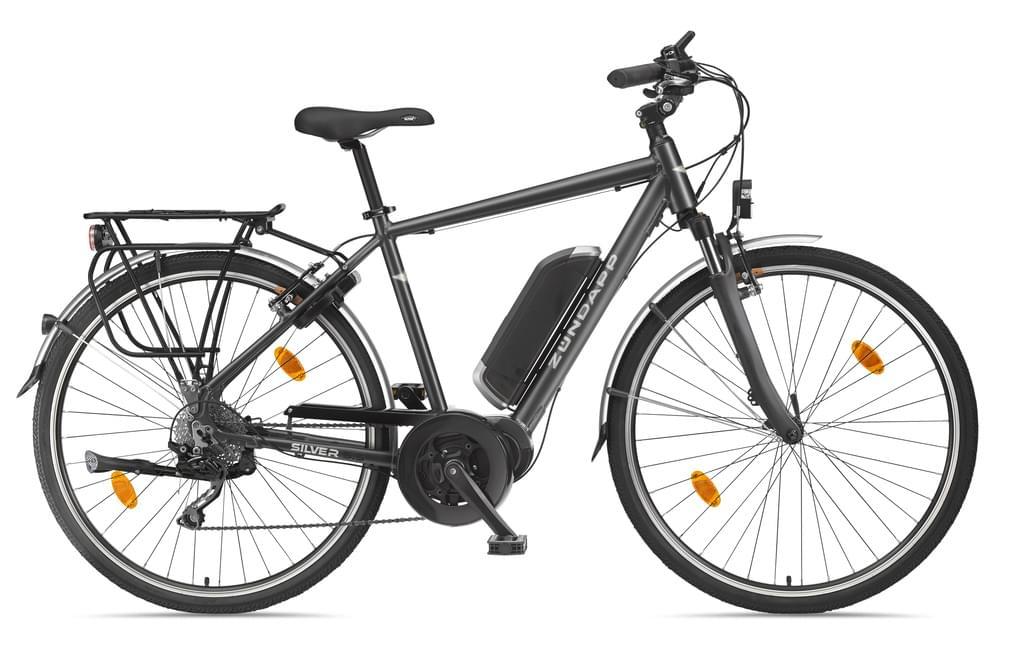 ZÜNDAPP E-Bike Alu Trekking »Silver 5.5«, 28 Zoll, 10 Gang, Mittelmotor