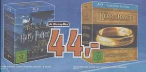 [lokal] Der Herr der Ringe Trilogie & Harry Potter Complete Collection [Blu Ray] (Saturn Neckarsulm)