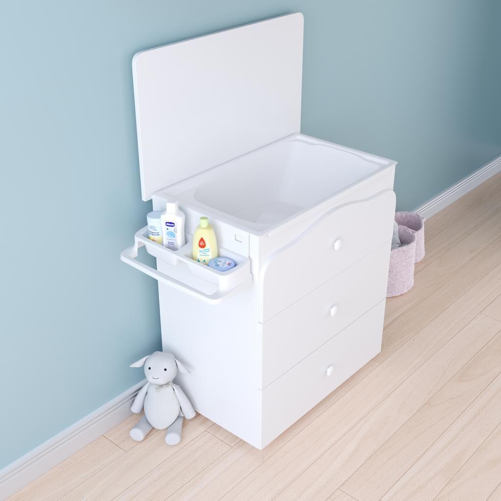 polini kids wickelkommode mit badewanne basic 3275. Black Bedroom Furniture Sets. Home Design Ideas