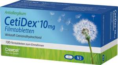 [Allergiker hier lang] CetiDex 10 mg Filmtabletten (Cetirizindihydrochlorid) hilft bei Heuschnupfen etc.