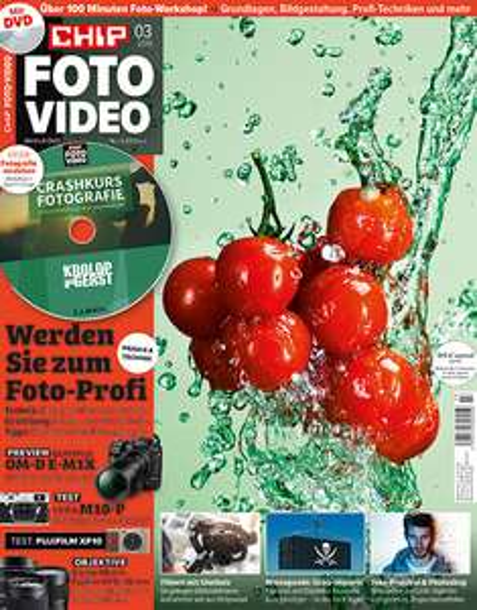 Chip Foto Video inkl. DVD Abo (12 Ausgaben) mit 55 € Amazon-Gutschein oder Messenger Backpack SD-185  (i.W.v. 119 €) für 79,20 €