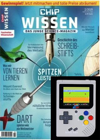 Chip Wissen Abo (6 Ausgaben) mit 25 € Amazon-Gutschein oder BittBoy (mini NES, Gameboy) (i.W.v. 46 €) für 39,90 bzw. 40,90 €