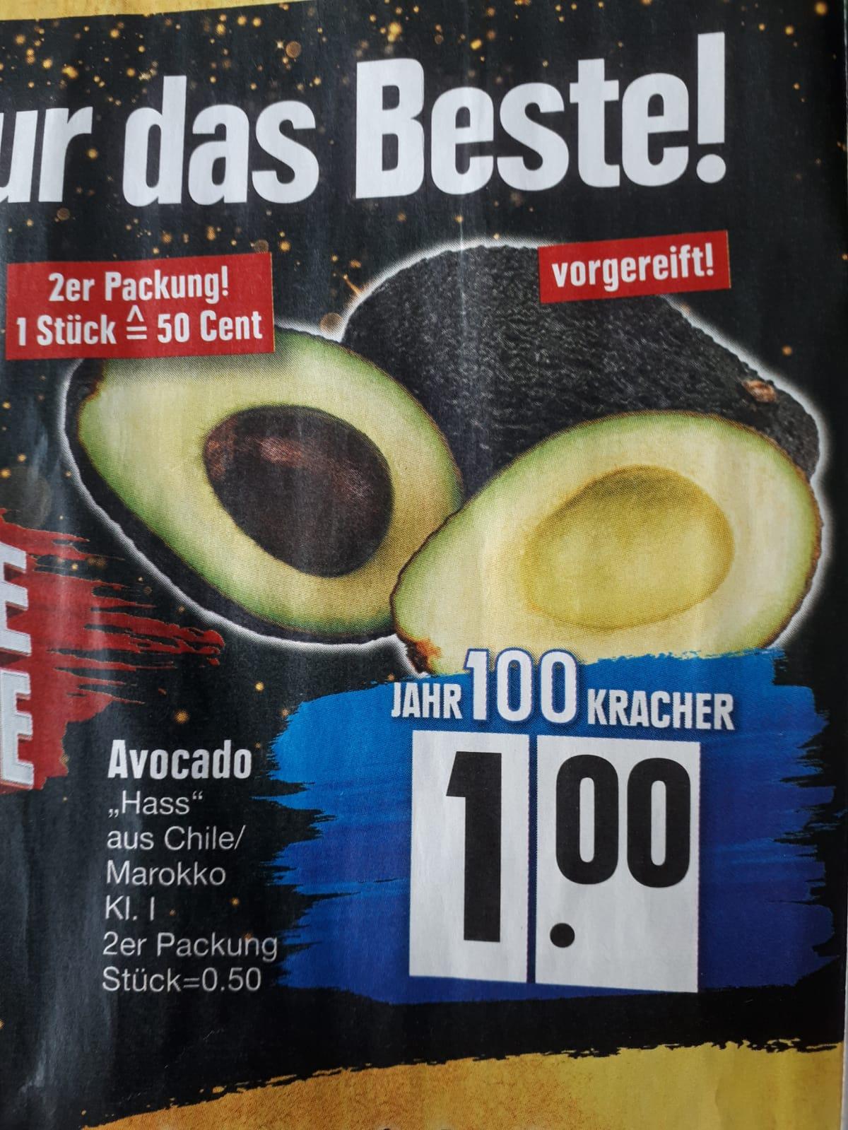 [Edeka Südbayern] 2 Stück(!) Avocado Kl. 1 vorgereift