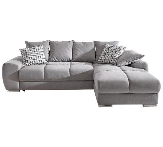 xxxlutz wohnlandschaft mit schlaffunktion und bettkasten ma e 271 181 cm mikrofaser in. Black Bedroom Furniture Sets. Home Design Ideas