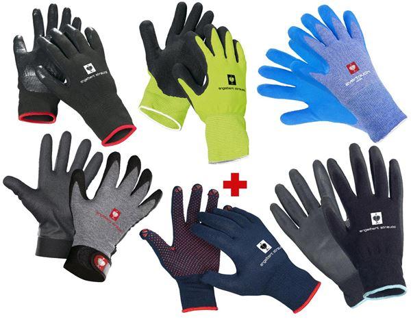 [engelbert strauss] Set mit 6 unterschiedlichen Arbeitshandschuhen (3,84€/Paar), um den perfekten Handschuh für jeden Einsatz zu finden