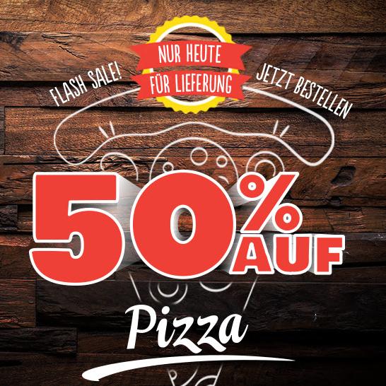 50% Rabatt auf jede Pizza bei Domino's