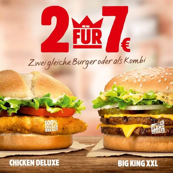 [Burger King]  Für 7€ einen Big KING XXL und Chicken Deluxe oder 2x Big King XXL / 2x Chicken Deluxe