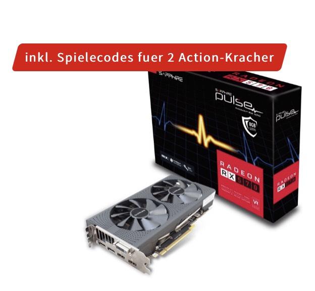 Mediamarkt und Saturn - 8GB Sapphire Radeon RX 570 Pulse Aktiv + 2 Spiele