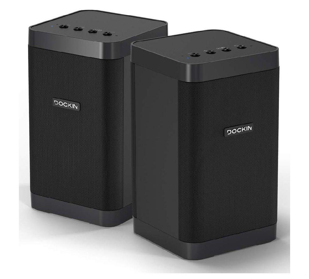 DOCKIN D Cube Bluetooth Lautsprecher Stereo-Set