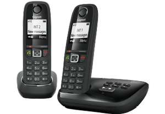 Gigaset AS405A Duo Schnurlostelefon mit Anrufbeantworter (erweiterbar, Standby-/ Gesprächszeit  200 / 18 h, bis 100 Telefonbucheinträge)