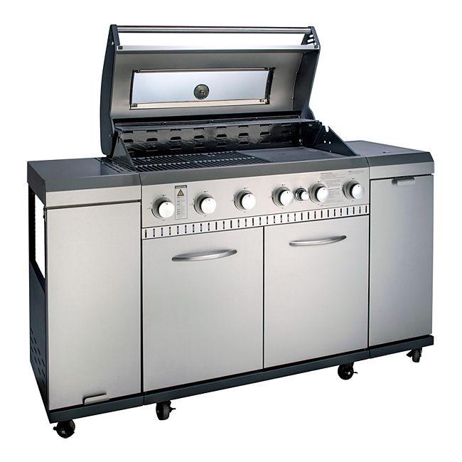 LANDMANN Gasgrillküche mit 6 Edelstahlbrenner je 3,5 kW
