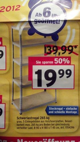 Schwerlastregal 265Kg (lokal Max Bahr Teltow, Oderstraße)