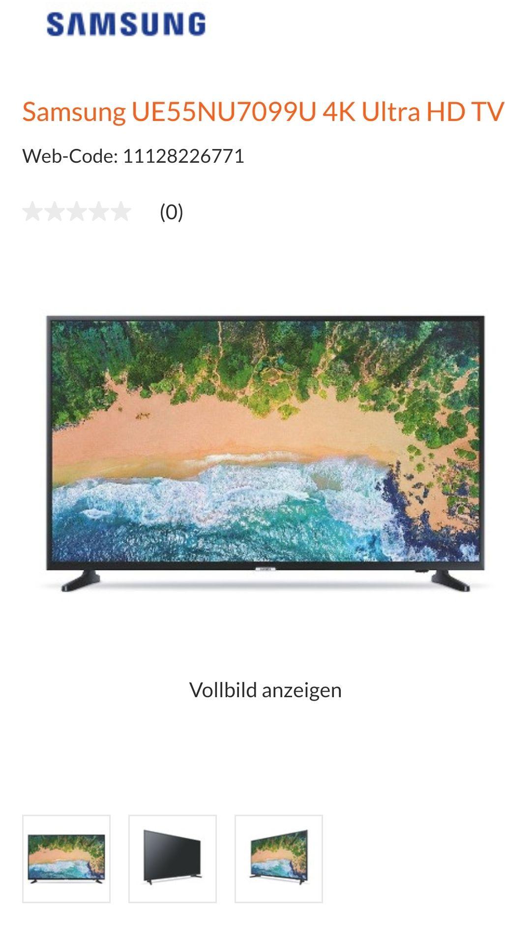 Samsung 4K Ultra HD TV UE55NU7099U