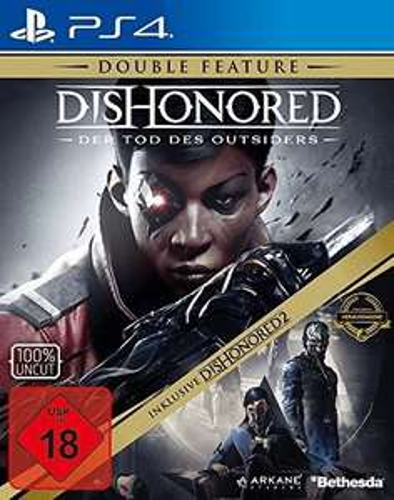 Dishonored: Der Tod des Outsiders + Dishonored 2: Das Vermächtnis der Maske (PS4) für 11,39€ (grooves.land)
