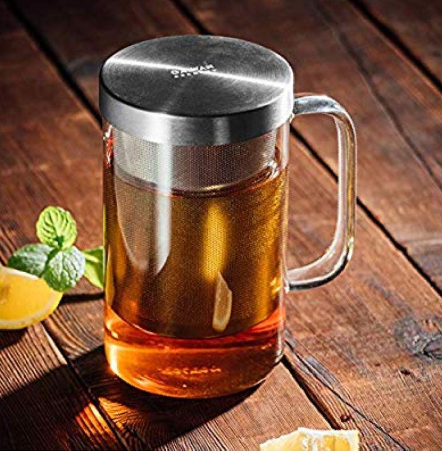 (Amazon Deal)  500 ml Teebereiter, 30 Jahre Garantie auf das Edelstahlsieb
