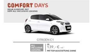 Citroen Comfort Days C1 VTI 72 Shine ab 139€