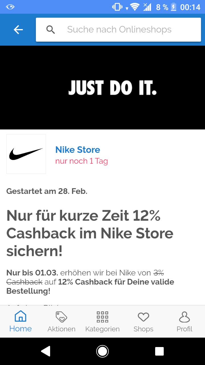 12% über Shoop im Nike Store