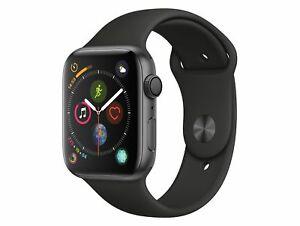 [gravis] Apple Watch Series 4 (GPS) Aluminium 44mm grau mit Sportarmband schwarz (MU6D2FD/A)