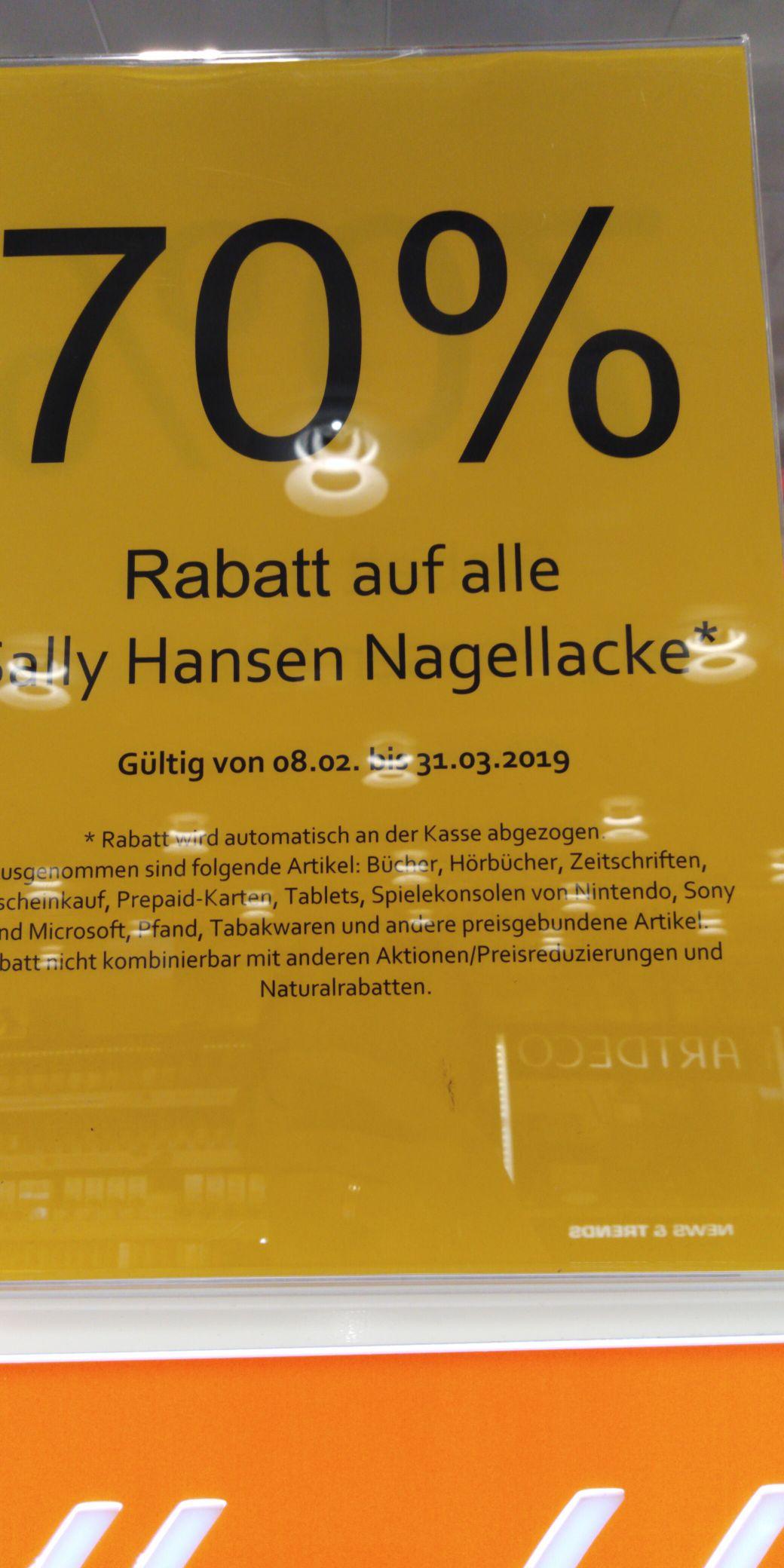 Müller sally Hansen Nagellack 70% billiger online und offline