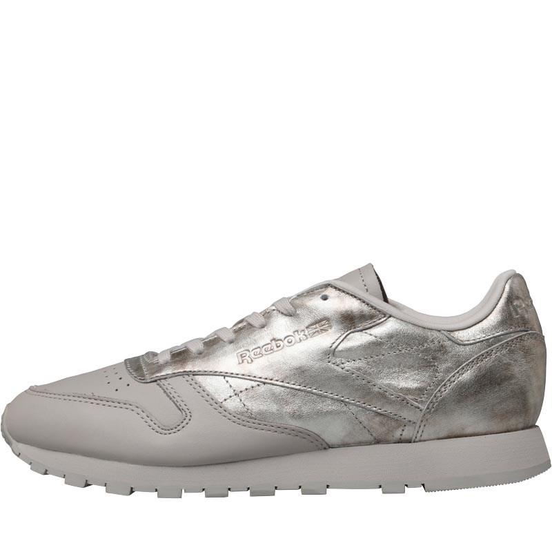 Reebok Classics Damen Classic IL Ledersneakers Metallic Silber (Gr. 33-41)