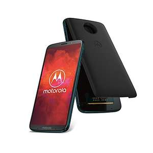 [Amazon] Motorola Moto Z3 Play Smartphone BUNDLE (6 Zoll) + Moto Power Pack + moto Style Shell – Black Leather, 4 GB RAM/64 GB/SD636