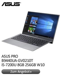 """ASUS PRO 14"""" FHD IPS matt i5-7200U 8GB 256GB W10 1,05kg Gewicht"""
