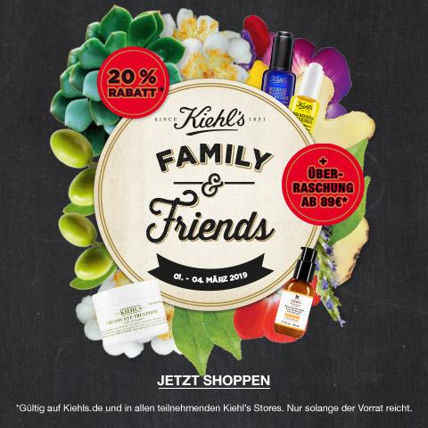 (Kiehl's) Family & Friends 20% auf das gesamte Sortiment